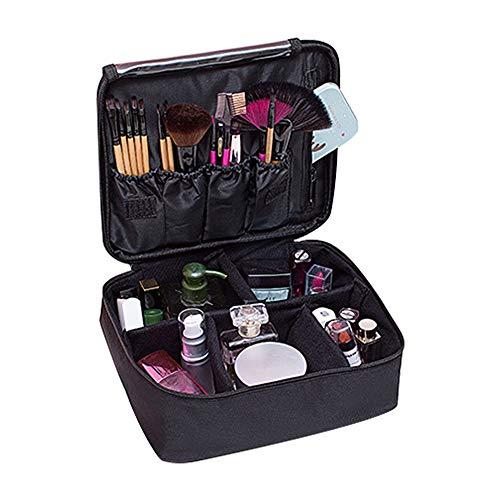 Makeup tas - Athyior Cosmetische reistas Draagbare toilettas Grote capaciteit Cosmetische organizer tas voor Meisjes Dames Zwart