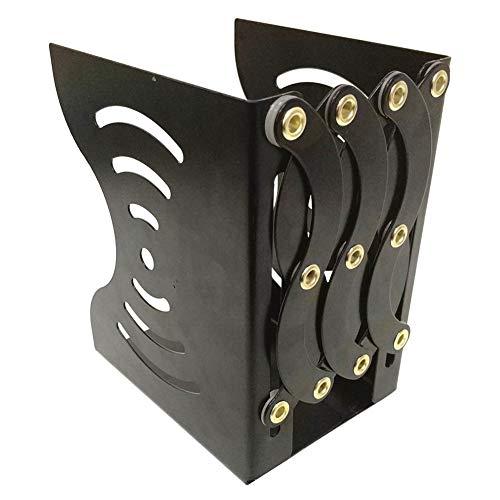 Iycorish Soporte de Libro RetráCtil de Metal Estante de Libro Plegable de Hierro Estante de Almacenamiento de Libros