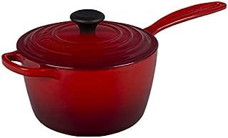 Le Creuset of America Enameled Cast Iron Sauce Pan, 2 1/4-Quart, Cerise (Cherry Red)