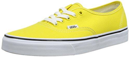 Vans AUTHENTIC - Zapatos de corte bajo, unisex, color amarillo (vibrant yellow/true white), talla 43