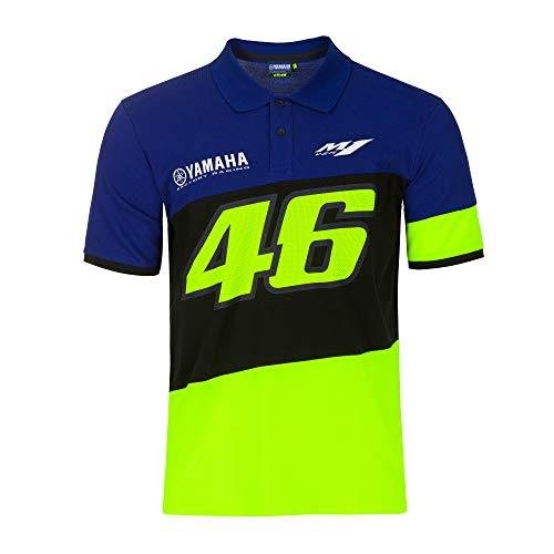 Valentino Rossi 2020 Herren T-Shirts Yamaha Factory Racing Offizieller Merchandise-Artikel, Poloshirt, Mens (XL) 116cm/46 Inch Chest