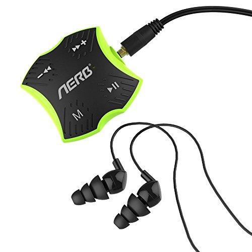 MP3 Impermeable, Aerb 4GB Reproductor de Música MP3 con Auriculares Estéreo para la Natación y Actividades al aire libre - Estándar IPX8