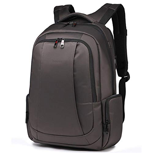 UKKD Backpack Anti Theft Nylon 27L Men 15.6 Inch Laptop Backpacks School Travel Backpacking Backpack Male Backpack For Laptop,Coffee 15.6Inch