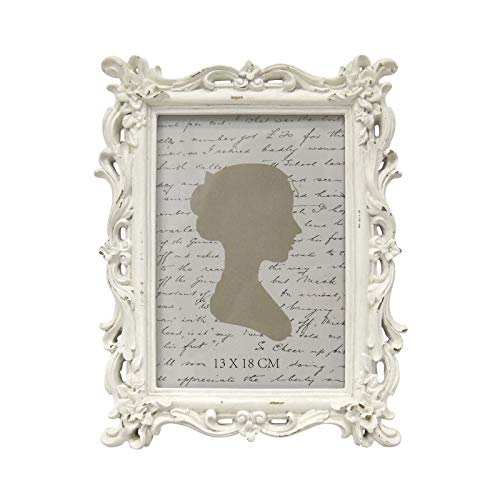 AELS 5x7 Inch Vintage Picture Frame, Elegant Antique Photo Frames with Glass Front, Photo Display, Tabletop Wall Hanging, Gift Ideas, White Waves