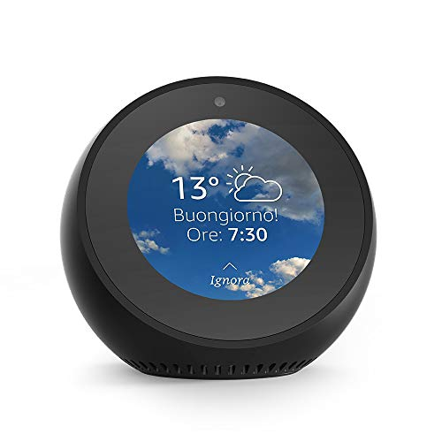 Amazon Echo Spot - Sveglia intelligente con Alexa - Nero