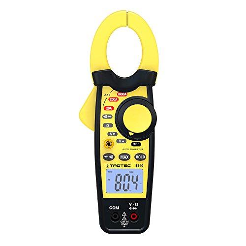 TROTEC Stromzange BE40 Zangenampermeter Multimeter Strommessung Spannung