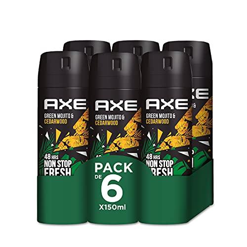 Axe Wild Desodorante - en Aerosol (Mojito Y Madera) 150 ml - Pack de 6