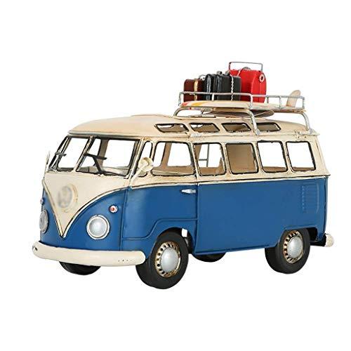 XHAEJ Modelo de automóvil Modelo de Tejido Teléfono de Personalidad Forma de autobús de Hierro Forjado Caja de Almacenamiento de Papel de Bombeo Handicraft Creative Decoration Collection