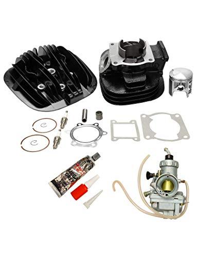 BLACKHORSE-RACING for 88-06 Yamaha Blaster 200 YFS200 Cylinder Head Piston Carburetor Top End Rebuild Kit