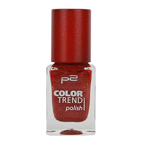3x P2 Color Trend Nail Polish Nr. 050 marsala sand Inhalt: 10ml - Nagellack für tollen Sand-Effekt auf dem Nagel.