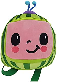 Cocomelon Melon JJ Plush Kids Backpack Bag for Back to School and Nursery
