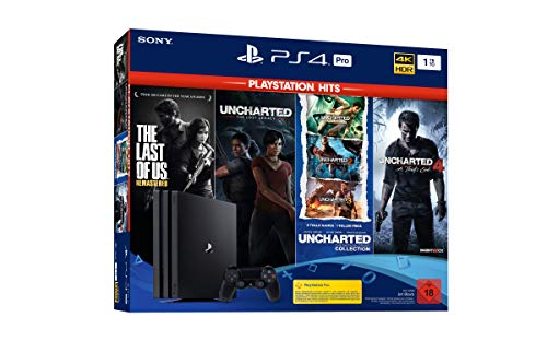 PlayStation 4 Pro - Konsole (1TB, schwarz) PS Hits Naughty Dog Bundle