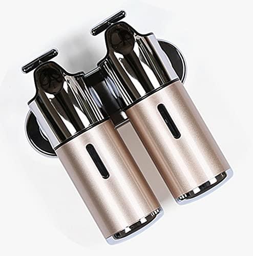 TBSHX Dispensador de jabón automático de montaje en pared, dispensador de mano para oficina, baño, cocina, 500 ml, 2 unidades (dorado)