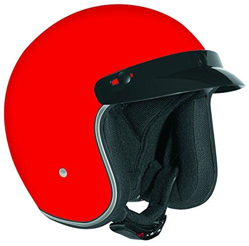 Vega X380 Open Face Helmet (Red, X-Small)