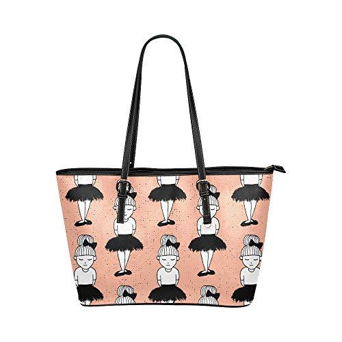 N\A Büro Handtasche Mode sexy kleine schwarze Kleid Königin Leder Hand Totes Tasche kausale Handtaschen Reißverschluss Schulter Organizer für Lady Girls Damen Handtasche Umhängetasche