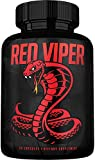 Red Viper Test Booster for Men - Male Enhancing Pills - Enlargment Supplement - Men's High Potency Endurance, Drive, and Strength Booster - Ultimate Panax Ginseng - 60 Caps - Made in USA