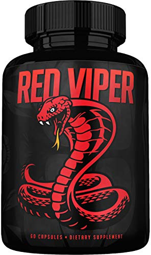 Red Viper Male Enhancing Pills - Enlargement Booster for Men - Panax Ginseng - Increase Size, Strength, Stamina - Boost Testosterone, Energy, Mood - Natural Performance Supplement Made in USA
