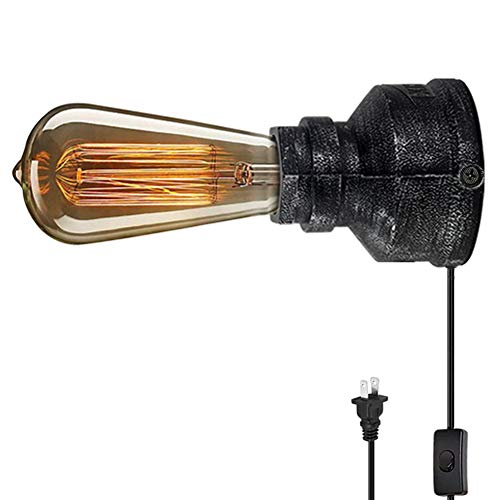 XIHOME Vintage American Village Style Wall Lamps Creative Sconces Lights Alloy Metal Water Pipe Night Light,Rustic Loft Industrial Steampunk Retro Base E26 LED Edison Table/Desk Lighting Fixture