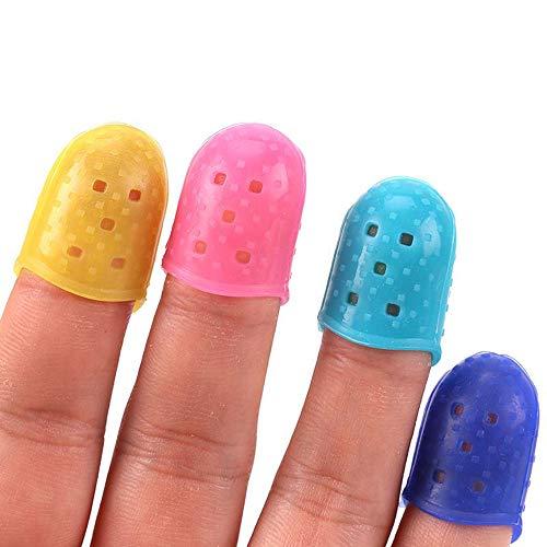 Ogquaton Protectores de dedos de silicona Protectores de dedos de silicona Cubren...