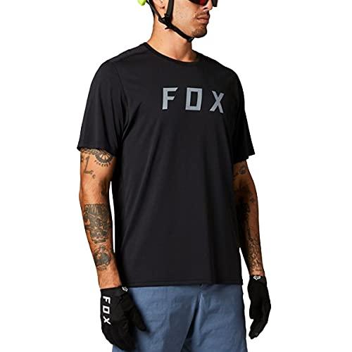 Fox Racing Herren Ranger Short Sleeve Jersey Fox Hemd, schwarz, Mittel