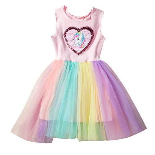 HEETEY HEETEY Kleid Rock Kleinkind Kinder Baby Mädchen ärmellose Tüllrock Prinzessin Party Kleider Kleidung Mit Rüschen verzierter, Farbiger Mesh-Rock