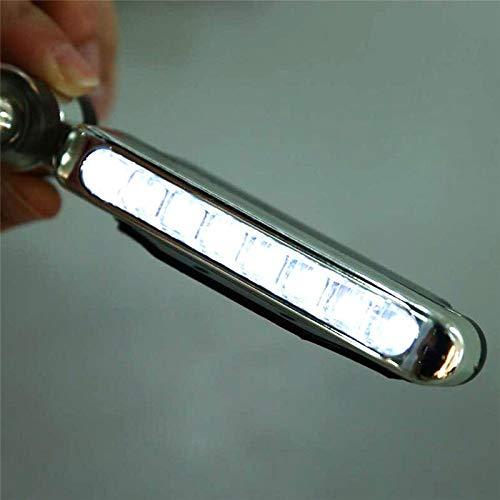 Julymall New 2Stk 8 LED-Winkel-Windenergie Stromversorgung Auto Tagfahrlicht DRL Autos Scheinwerfer-Lampe Auto Dekoration Angepasst (White)