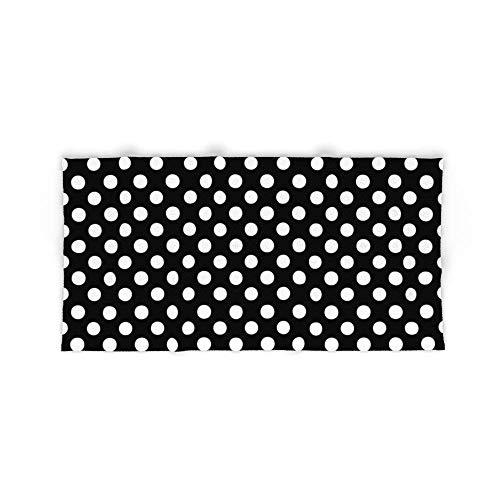 Donola Toalla de baño Lunares (Blanco/Negro), 91,44 x 137,1 cm