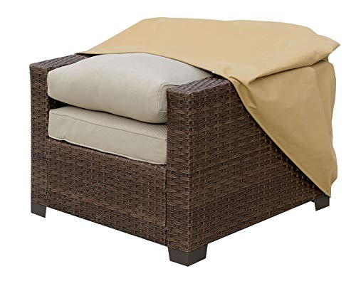Benjara Benzara Fabric Dust Cover for Outdoor Chairs, Brown,