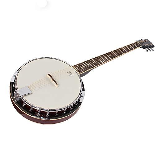 BLKykll Banjo Guitarras Acústicas Banjo De 6 Cuerdas Instrumento De Banjo para Adultos Principiante para Niños Bandeja Dura con Palanca De Ajust Jugar Regalos