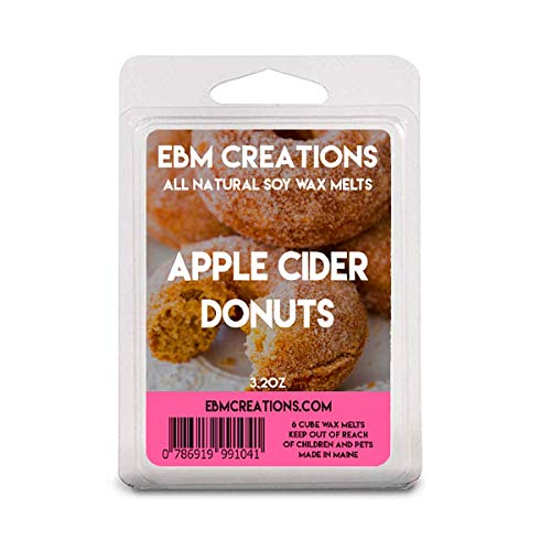 Apple Cider Donuts - Scented All Natural Soy Wax Melts - 6 Cube Clamshell 3.2oz Highly Scented!