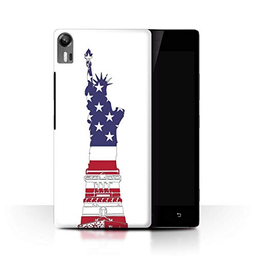 Phone Case for Lenovo Vibe Shot/Z90 USA America Pride Statue Of Liberty Patriot Transparent Clear Ultra Slim Thin Hard Back Cover
