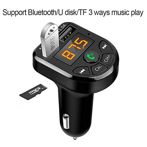 Bluetooth 5.0 FM Transmitter Car Kit MP3 Modulator Player Wireless Handsfree Audio Receiver 3.1A Dual USB Fast Car Charger