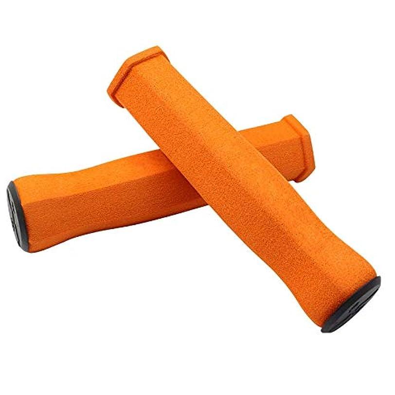 グッゲンハイム美術館処理はずXYDD マウンテンバイクのハンドルバー、高密度のソフトフォーム折りたたみ自転車アンチスキッドハンドルバーエンドカバー (Color : Orange)