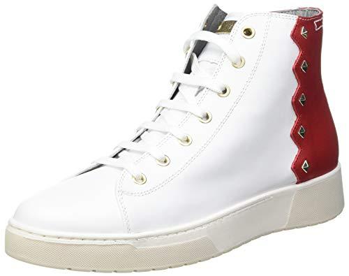Geox D KAPHA B, Zapatillas Mujer, Color Rojo Blanco, 38 EU