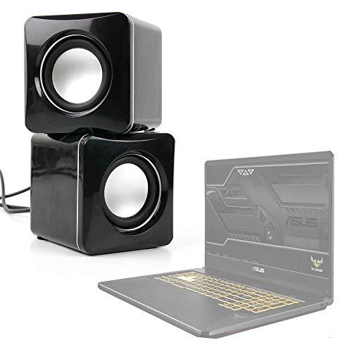 DURAGADGET Altavoces Compactos Compatible con Portátil ASUS TUF Gaming FX705GM-EV020 - Tamaño Mini - Conexión Mini Jack + USB