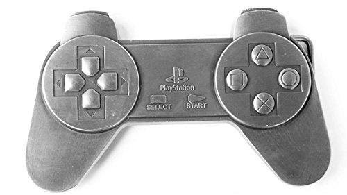 Playstation Gürtelschnalle Metall Controller