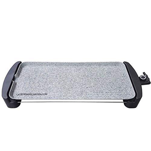 Suinga PLANCHA DE ASAR con revestimiento de piedra. Plancha combinada: Plana y Parrilla. Superficie de cocinado de 65 x 30 cm. Temperatura regulable 80-250º. Potencia 1800-2200 W