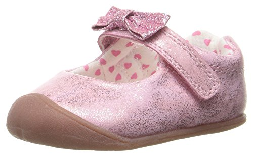 Carter's Every Step Kids' Stage 1 Girl's Crawling Shoe Sarah Mary Jane Flat, Pink, 2.5 M US Little Kid