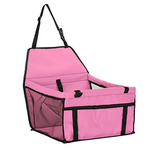 JMAHM Honden Auto Stoel Opvouwbare Huisdier Veiligheid Auto Zitzak voor Schoon, roze