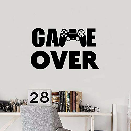 Game wandkaart PS4 speler kaart controller video game muursticker, geschikt voor kinderen slaapkamer vinyl huis wanddecoratie 57x34 cm Ab