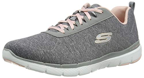 Skechers Women's FLEX APPEAL 3.0-INSIDERS Trainers, Grey (Grey Light Pink Gylp), 8 UK 41 EU