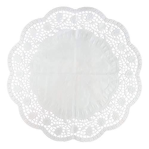 Zenker 15 Tortendeckchen aus Papier, 35 cm in weiß