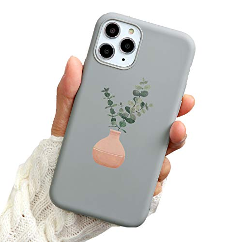 Anewsex Green Potted Plant Leaf Phone Case for iPhone 11 12 Pro Soft Silicone Cover Khi 3zhiyjl for iPhone SE
