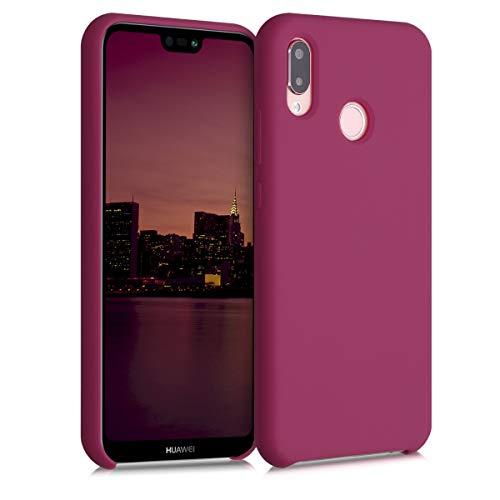 kwmobile Cover Compatibile con Huawei P20 Lite - Cover Custodia in Silicone TPU - Back Case Protezione Cellulare Rosso Melograno