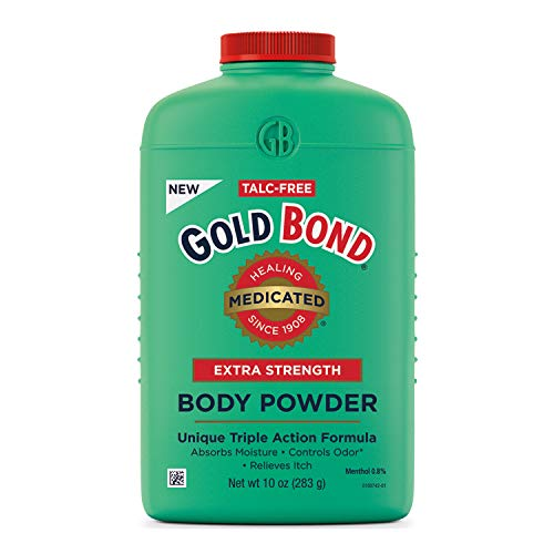 Gold Bond Medicated Talc-Free Extra Strength Body Powder 10 oz, Cooling, Absorbing & Itch Relief