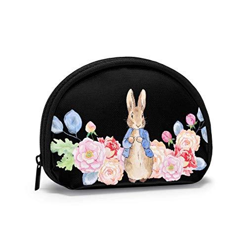 HHUAN Peter Rabbit monedero, bolsa de almacenamiento de concha, bolsa de almacenamiento de Mickey Mouse suave para mujeres, tamaño pequeño 12 x 9 cm