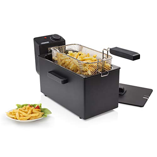 Princess 182727 Deep Fat Fryer - Freidora, Zona Fría, Filtro de Seguridad, Volumen de 3 litros, Color Negro
