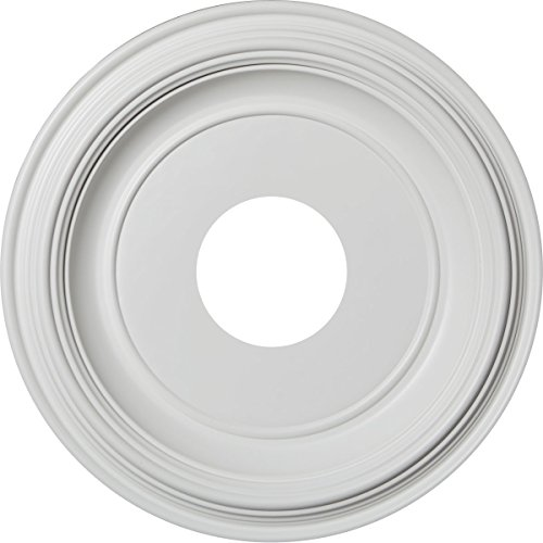 "Ekena Millwork CMP13TR Traditional Thermoformed PVC Ceiling Medallion, 13""OD x 3 1/2""ID x 1 1/4""P (Fits Canopies up to 7 1/2""), White"