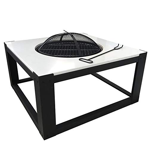 Check Out This LIUHUI Outdoor 32.3'' Metal Fire Pits BBQ Square Table Backyard Patio Garden Stov...