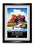 Poster Yorkshire #6, A4, gerahmt, Plexiglas,